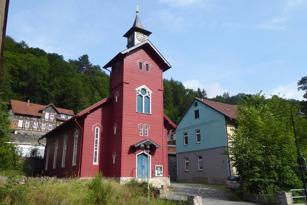 Die schöne Holzkirche in Rübeland