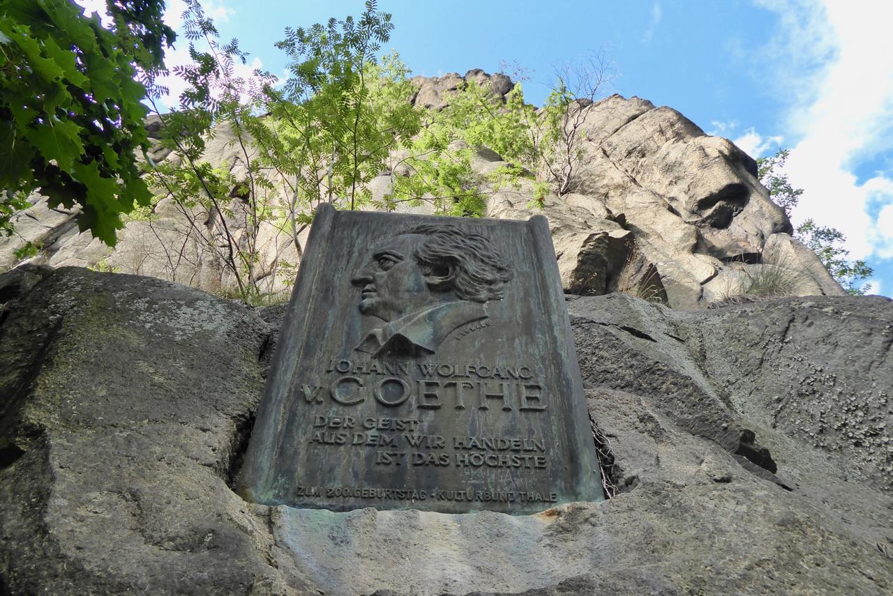 Goethe war natürlich auch im Bodetal
